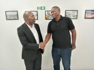 Armand Claude Abanda et Dzou Olivier Iris à Brazzaville